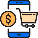 phone view e-commerce vector