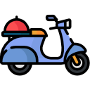 scooter food delivery png vector