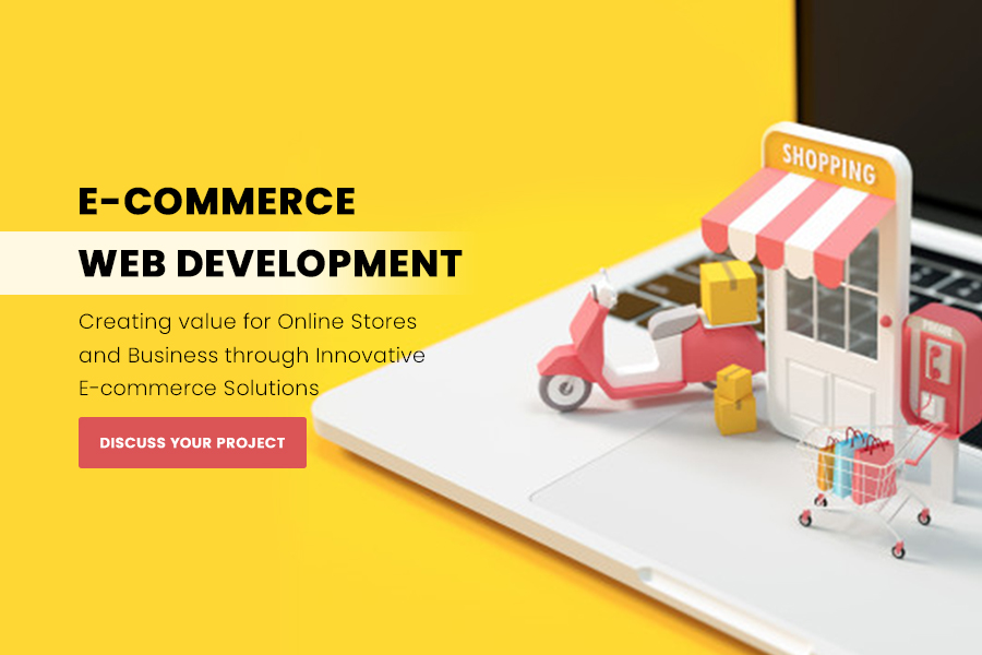 E-Commerce Web Development slider background
