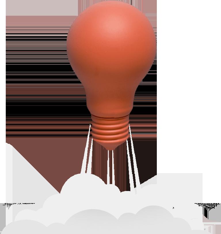 bulb shape innovation idea png